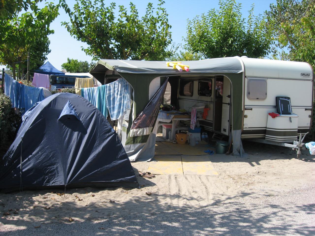 installation au camping