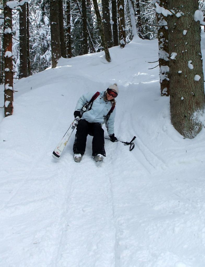 Pas assez doué pour suivre Valentin en ski dans les petits chemins !